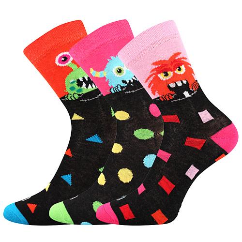 Lonka ponožky mix holka 3 páry