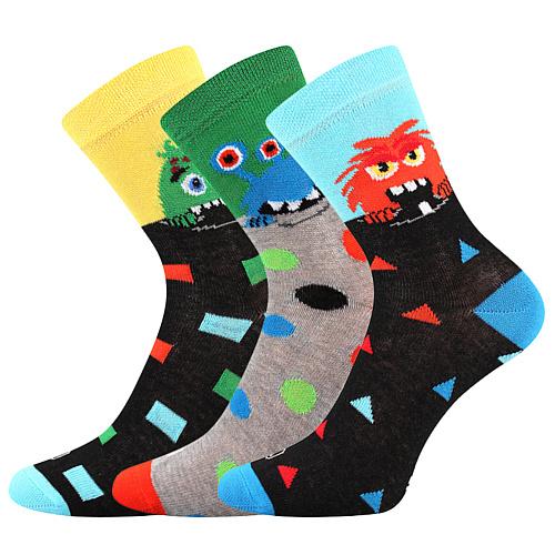 Lonka ponožky mix kluk 3 páry