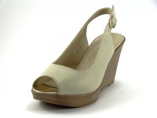 Karino 1154 letní obuv na klínu béžová