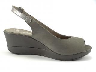 Karino 1262 letní obuv na klínu šedá