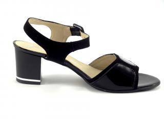 Karino 1186 společenská obuv černá,lesk