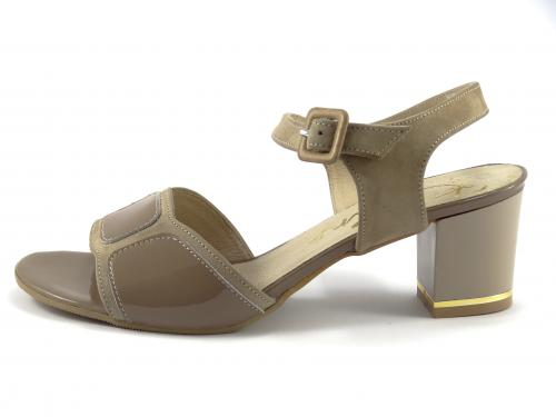 Karino 1186 společenská obuv béžová,lesk