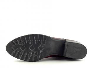 Kotníková obuv bordó CAPRICE 25302