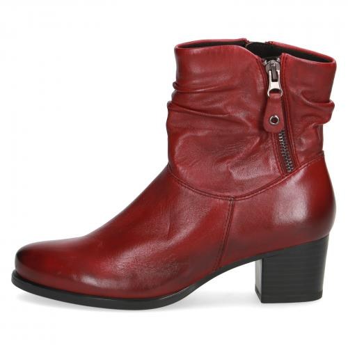 Kotníková obuv bordó CAPRICE 25347