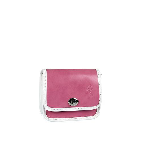 Vera Pelle kabelka mini růžová