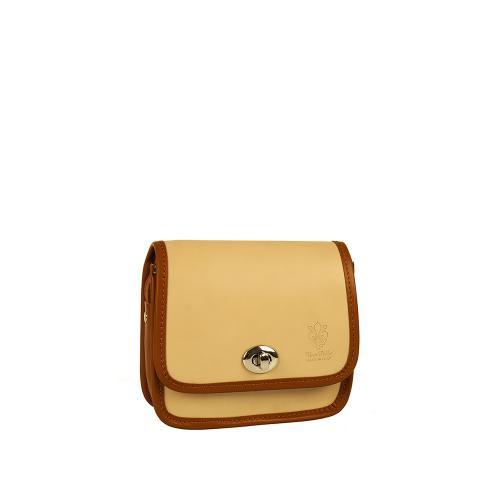 Vera Pelle 0025 kabelka hnědo-béž
