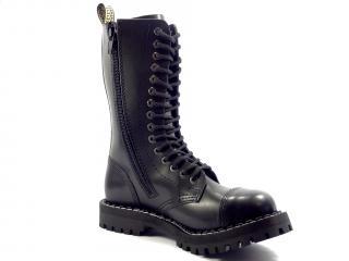 Steel boty 15 dírek 135/136/O/ZIP/ černá