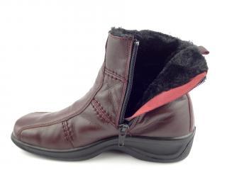 Kotníková obuv bordo 4219 FUR