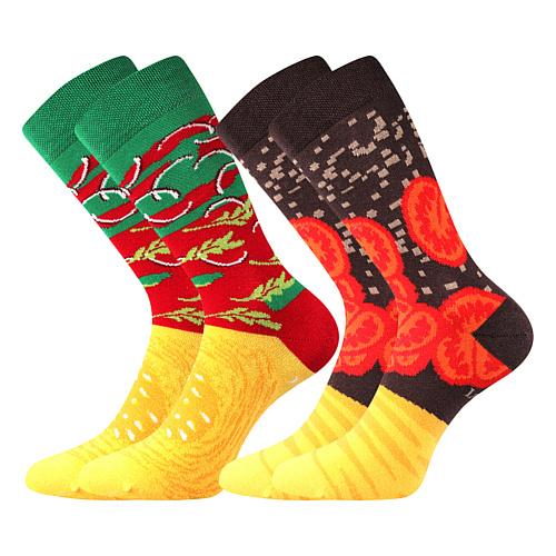 Ponožky Hamburger balení barevná