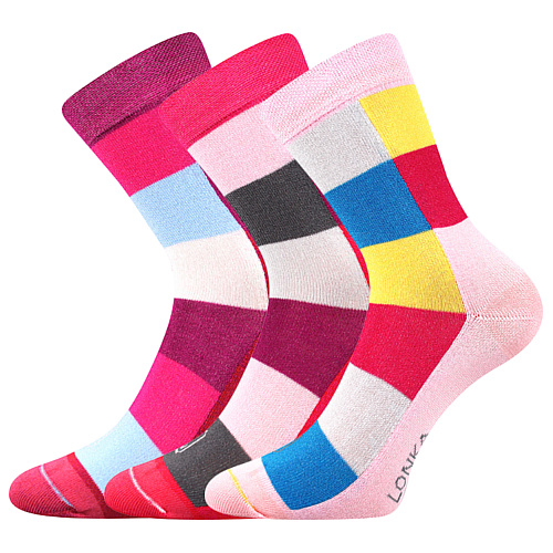 Lonka ponožky Bamcubik mix B holka Barevná