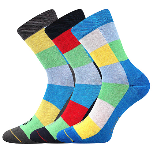 Lonka ponožky Bamcubik mix A kluk barevná