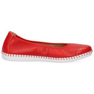 Caprice balerína 22154  červená