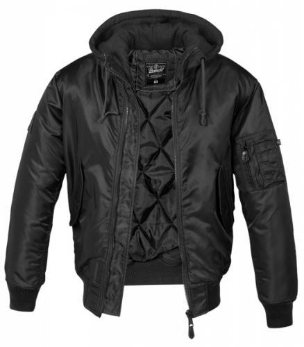 Pánská zimní bunda Brandit MA1 Sweat Hooded 3150 černá