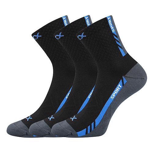 Voxx černé ponožky Pius 3 páry černá
