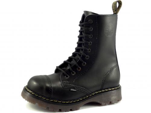 Steel boty 10 dírek 105/106/CL černá