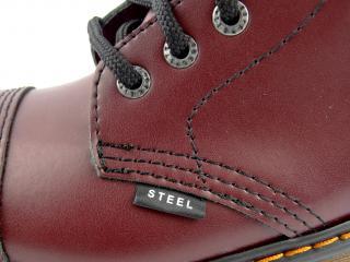 Steel boty 10 dírek 105/106/ALSDUR1/FULL bordó