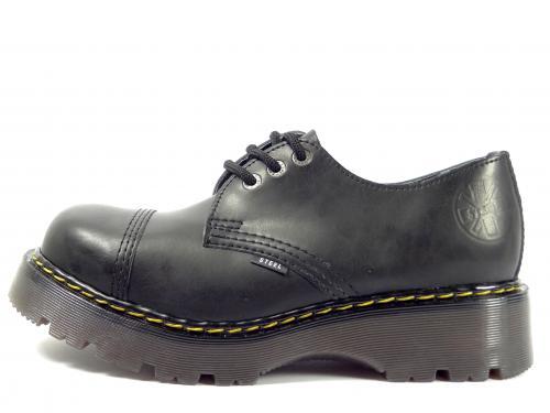 Steel boty 3 dírky 101/102/CL černá