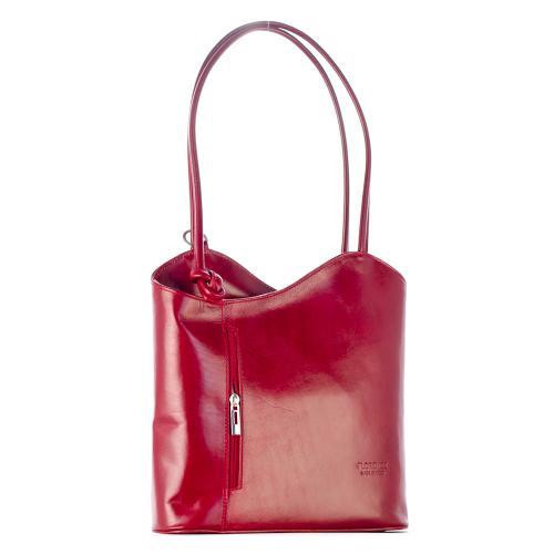 Vera Pelle červená kabelka i batoh