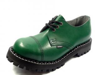 Steel boty 3 dírky 101/102/O/FULL  zelená