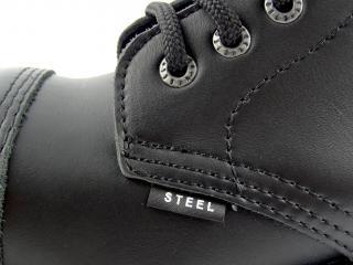Steel boty 6 dírek 127/128/O/ crazy černá