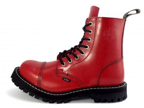 Steel boty 8 dírek 113/114/O/FULL  červená