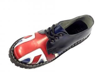 Steel boty 3 dírky 101/102/O/FL BLU vlajka vyšívané  modrá