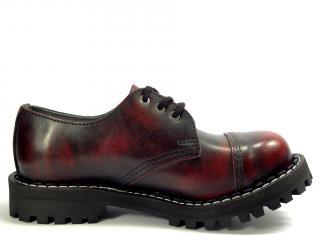 Steel boty 3 dírky 101/102/O/BLACK  červená