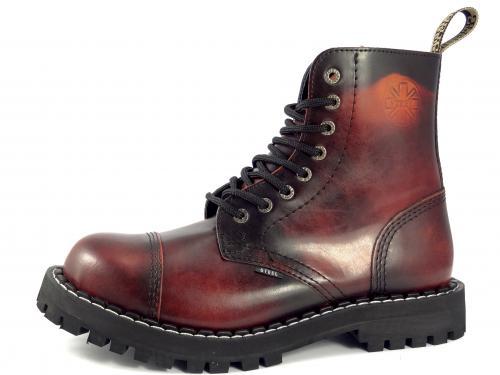 Steel boty 8 dírek 113/114/O/YELLOW RED BLACK barevná