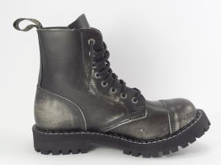 Steel boty 8 dírek 113/114/O/BLACK bílá