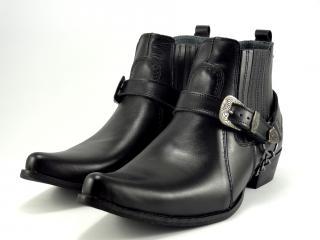 Selma westernové boty na motorku koně  1220  černá