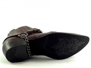 Selma westernové boty na motorku koně  1220  tmavě hnědá