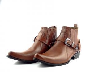 Selma westernové boty na motorku koně  1220  světle hnědá