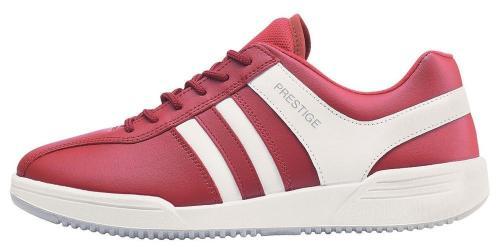 Prestige obuv M40020  červená bílé pruhy