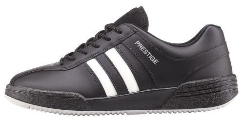 Prestige obuv M40020  černá bílé pruhy