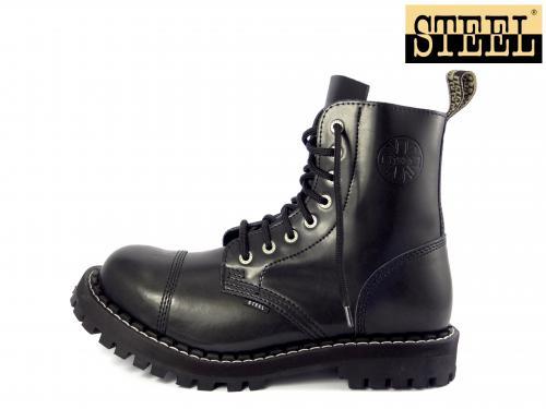 Steel boty 8 dírek 113/114/O černá