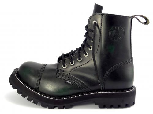 Steel boty 8 dírek 113/114/O/BLACK zelená