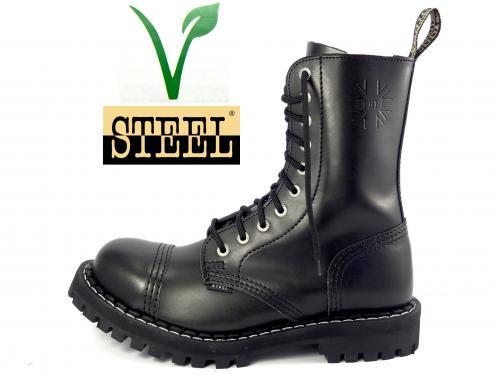 Steel boty 10 dírek 105/106/O/400/VEGE  černá