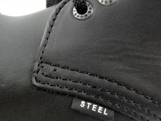 Steel boty 10 dírek 105/106/O/CRAZY černá