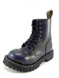 Steel boty 8 dírek 113/114/O/black  modrá