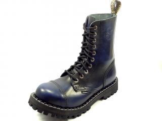 Steel boty 10 dírek 105/106/O/black  modrá