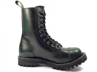 Steel boty 10 dírek 105/106/O/black  zelená
