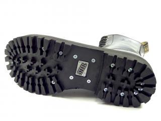 Steel boty 10 dírek 105/106/O/UK vlajka černá