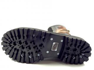 Steel boty 10 dírek 105/106/O/flames černá