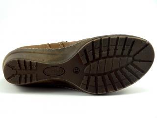 Kotníková šněrovací obuv na klínu