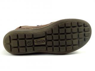 Kotníková nízká obuv hnědá se zipy