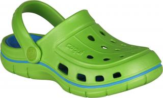 COQUI sandály dětské JUMPER 6353  Lime/Sea blue