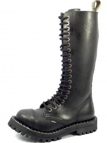 Steel boty 20 dírek 139/140/O/ZIP černá