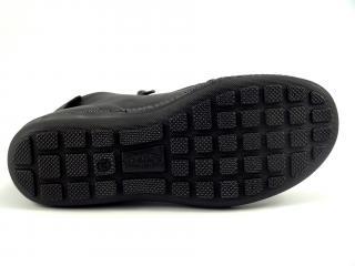 Kotníková nízká obuv černá se zipy