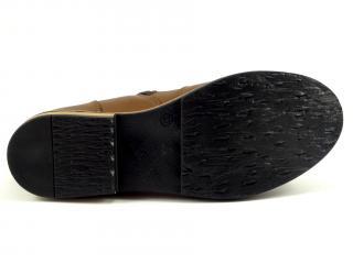 Kotníková obuv hnědá se zipem