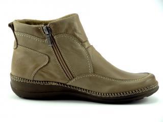 Kotníková obuv béžová nízká